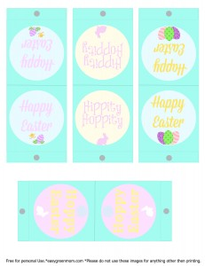 Free Printable Easter Lollipop Covers from Easy Green Mom.