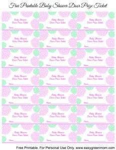 free printable baby shower door prize tickets for boy or girl easy